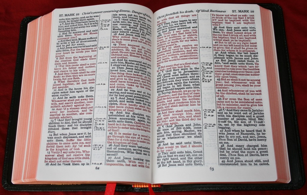Red letter vs black letter for New american standard bible red letter edition