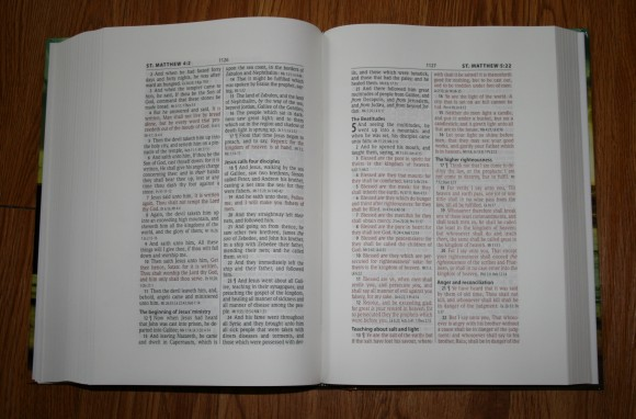 Hendrickson Large Print Wide Margin Bible KJV 007