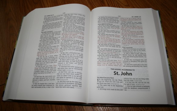 Hendrickson Large Print Wide Margin Bible KJV 009