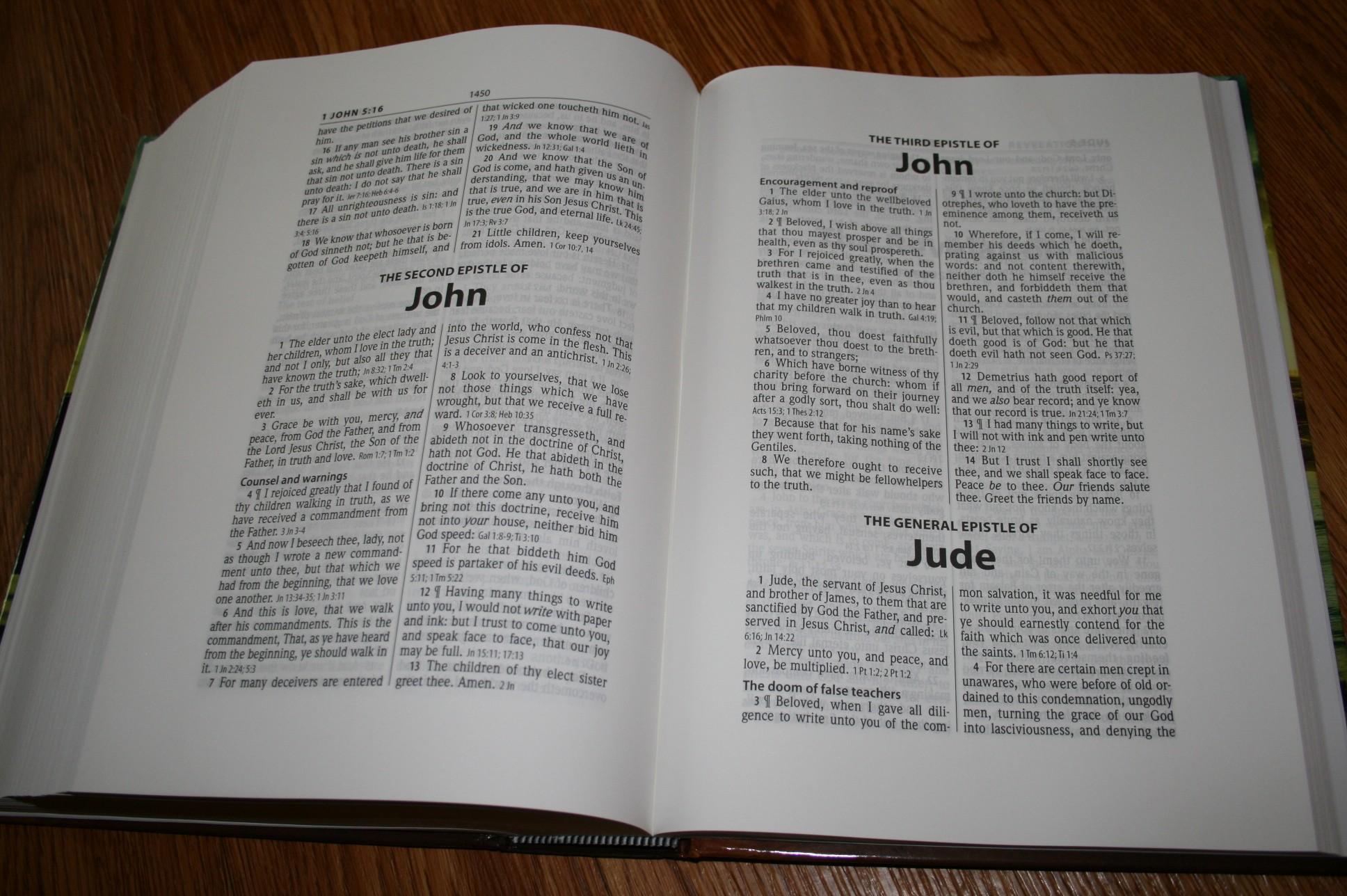 hendrickson large print wide margin bible kjv