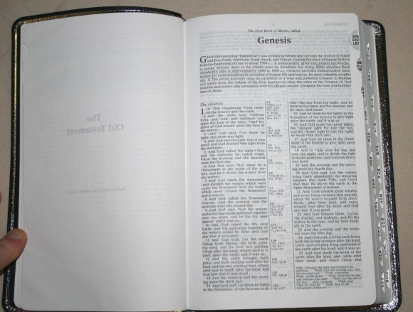 Zondervan King James Reference Bible Center-Column with Thumb In 010
