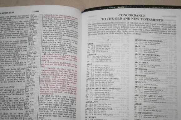Zondervan King James Reference Bible Center-Column with Thumb In 021