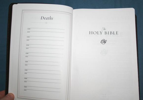 Crossway ESV Large Print Personal Size Bible 008