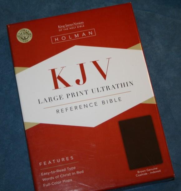 Holman KJV Large Print UltraThin Reference Bible in Brown Genuin 001