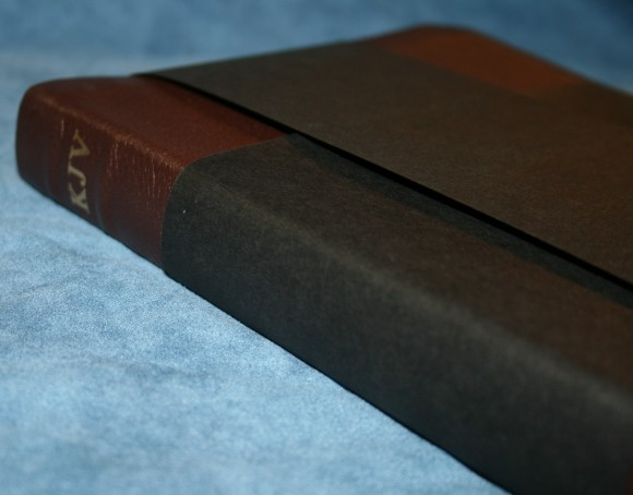 Holman KJV Large Print UltraThin Reference Bible in Brown Genuin 004