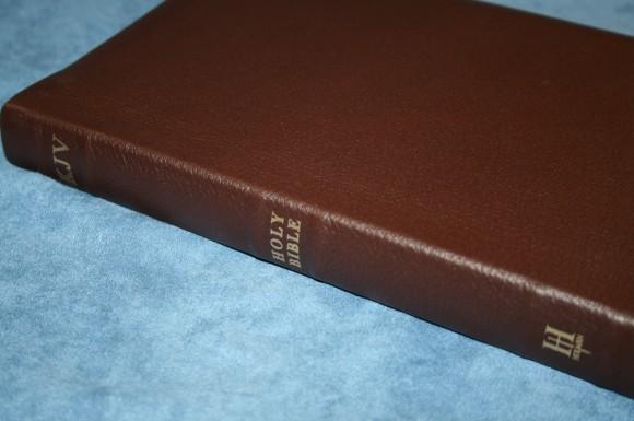 Holman KJV Large Print UltraThin Reference Bible in Brown Genuin 006