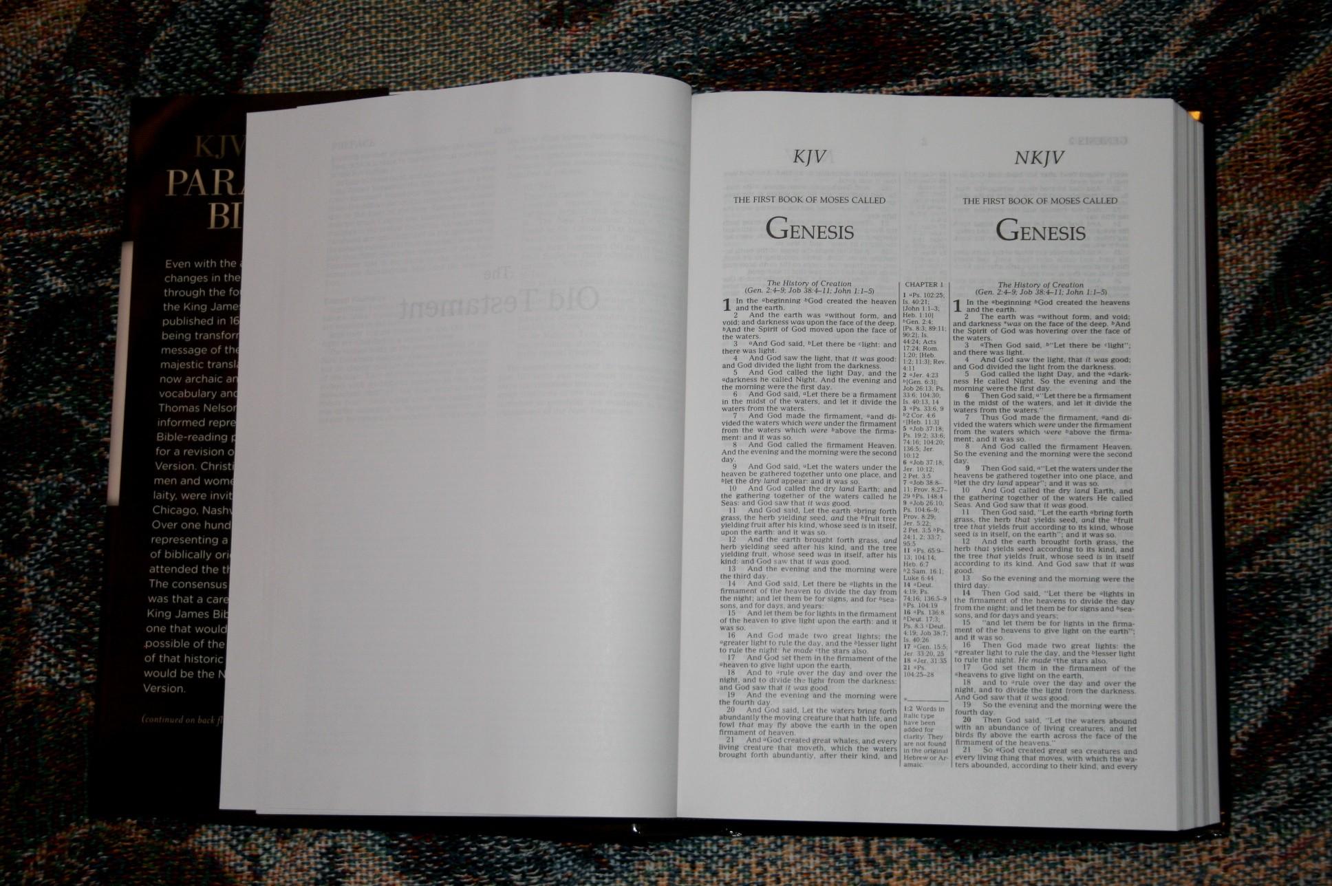 Thomas Nelson KJV NKJV Parallel Bible – Review