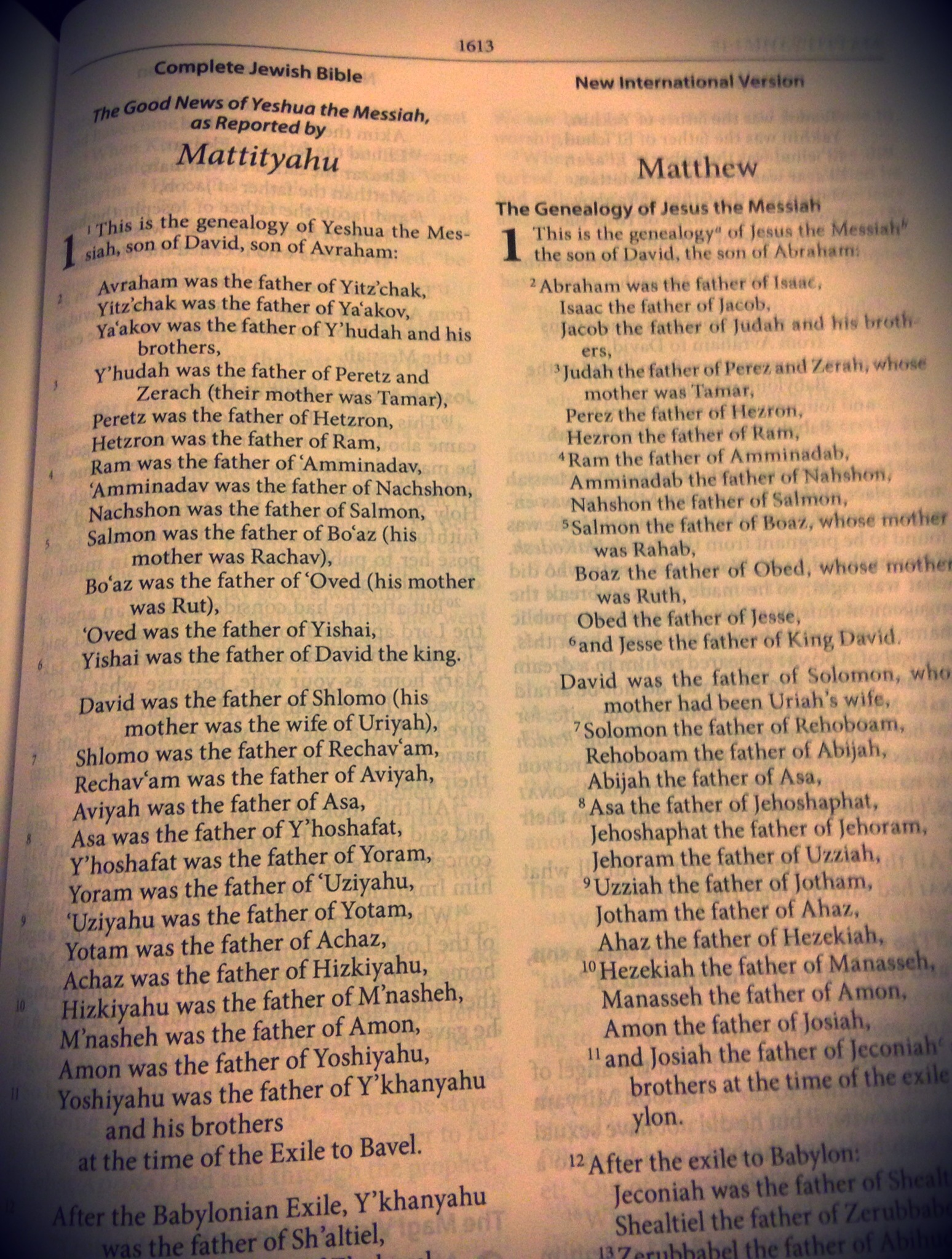 Complete Jewish Bible Niv 2011 Side By Side Reference
