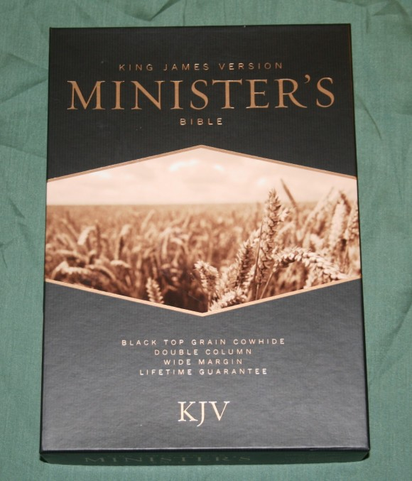 Holman KJV Ministers Bible in Black Top Grain Cow Hide (1)