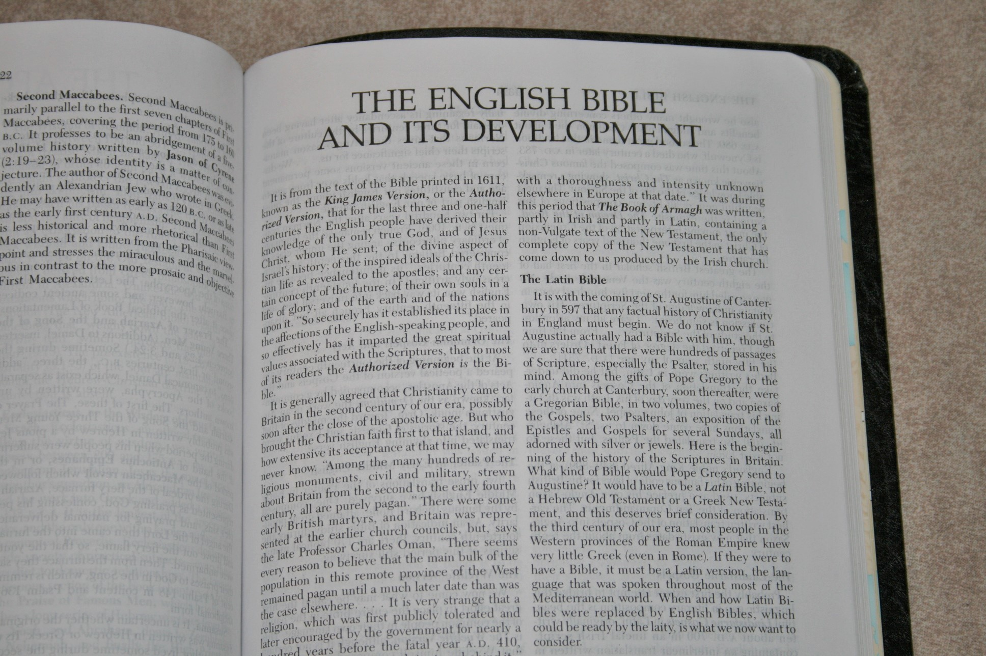 The Open Bible KJV Nelson 652B W/ Read Along References 1975