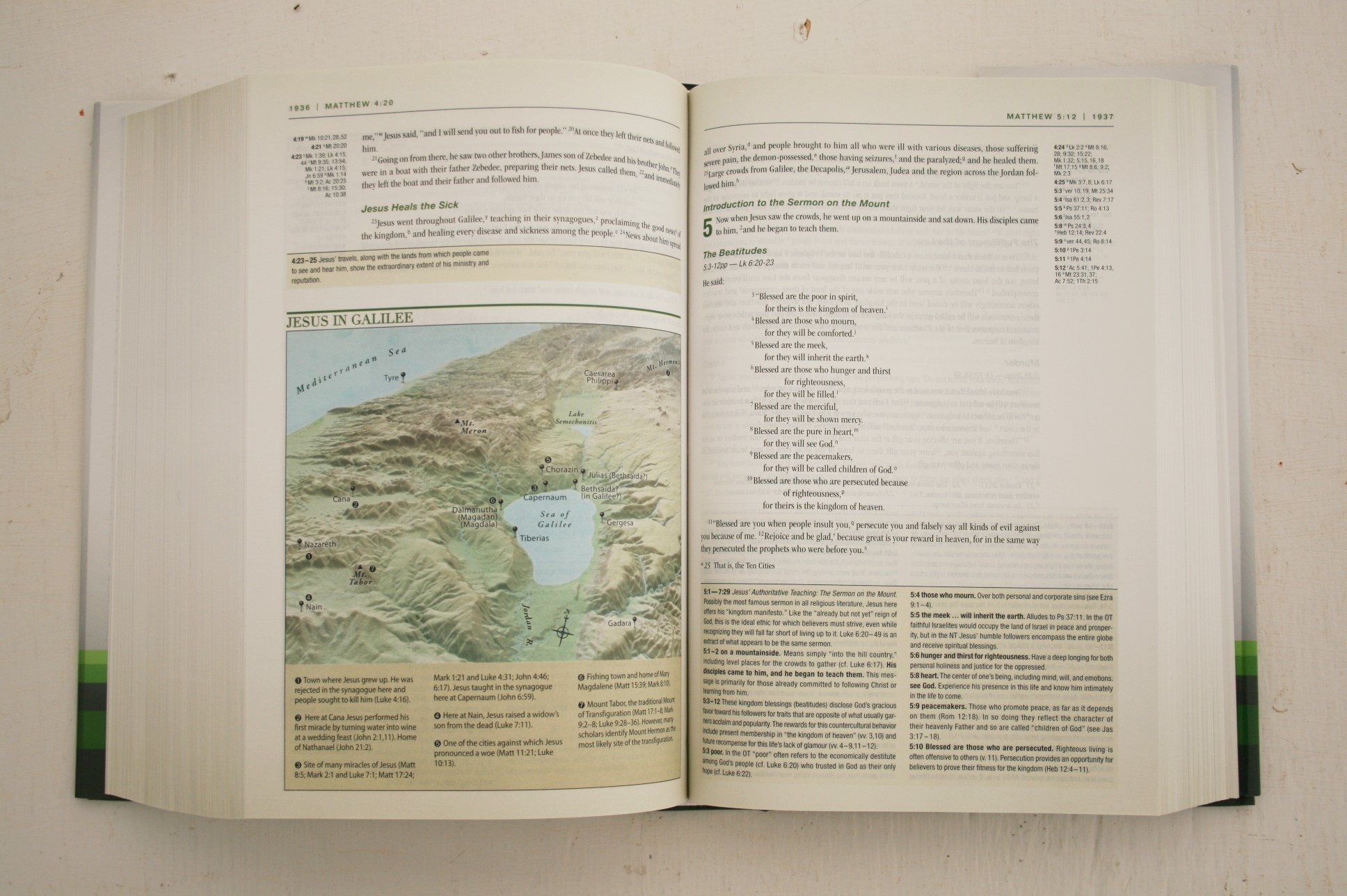 Zondervan NIV Holy Bible Tan Leather 1978, New International Version Larger size
