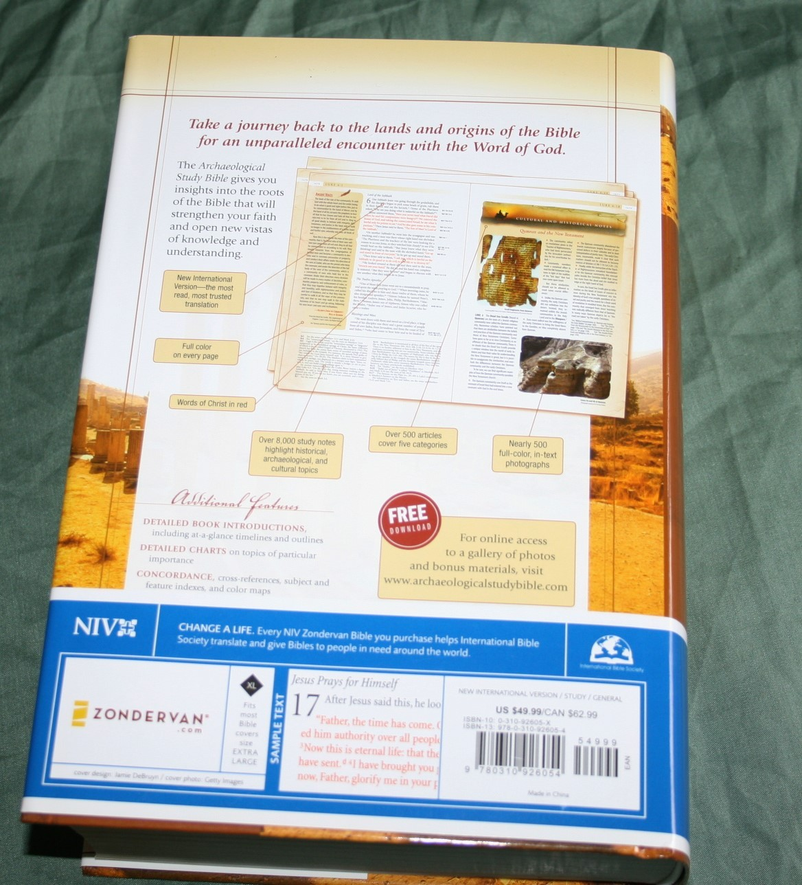 Zondervan's NIV Archaeological Study Bible – Review - Bible Buying Guide