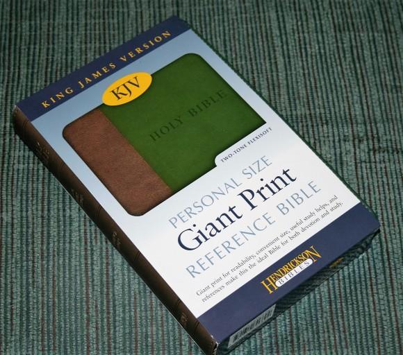 Hendrickson Personal Size Giant Print Reference Bible KJV (1)