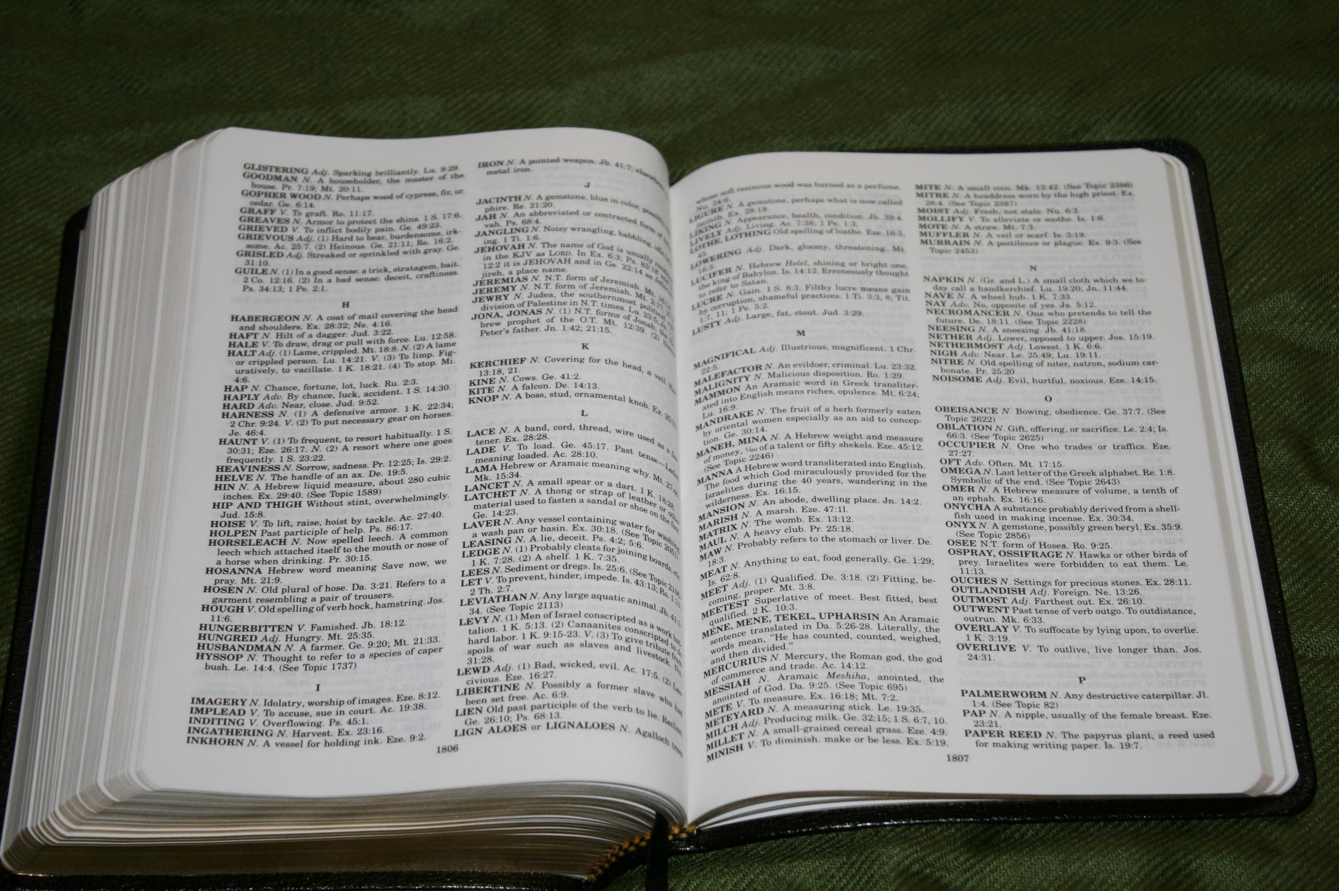 Handy Size Thompson Chain Reference Bible KJV (202)
