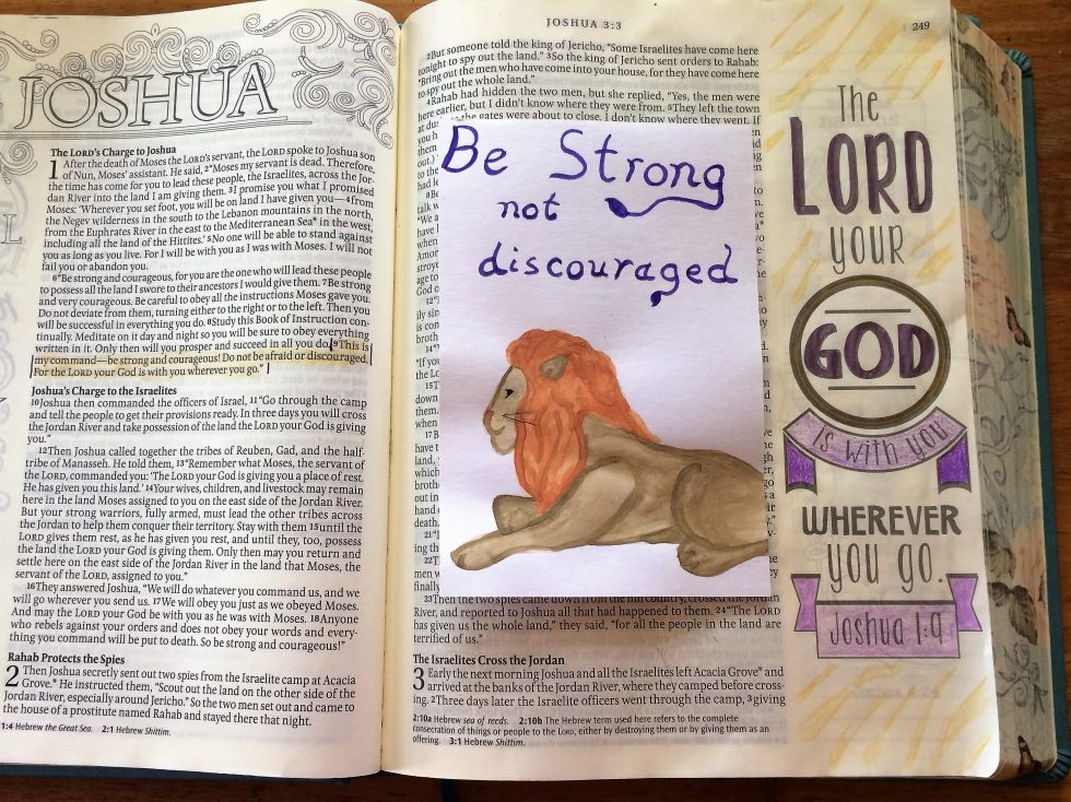 Bible Journaling Joshua 1 (8)