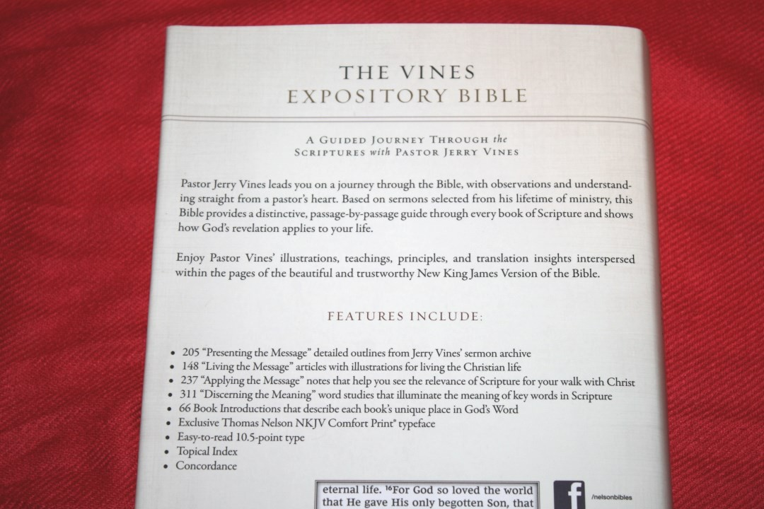 Vines Expository Bible Review - Bible Buying Guide