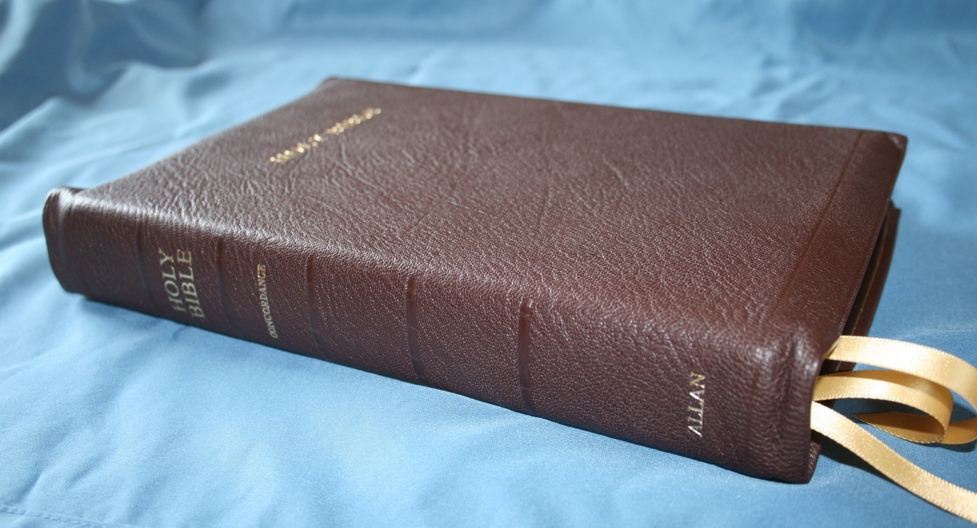 R. L. Allan KJV Longprimer in Brown Highland Goatskin