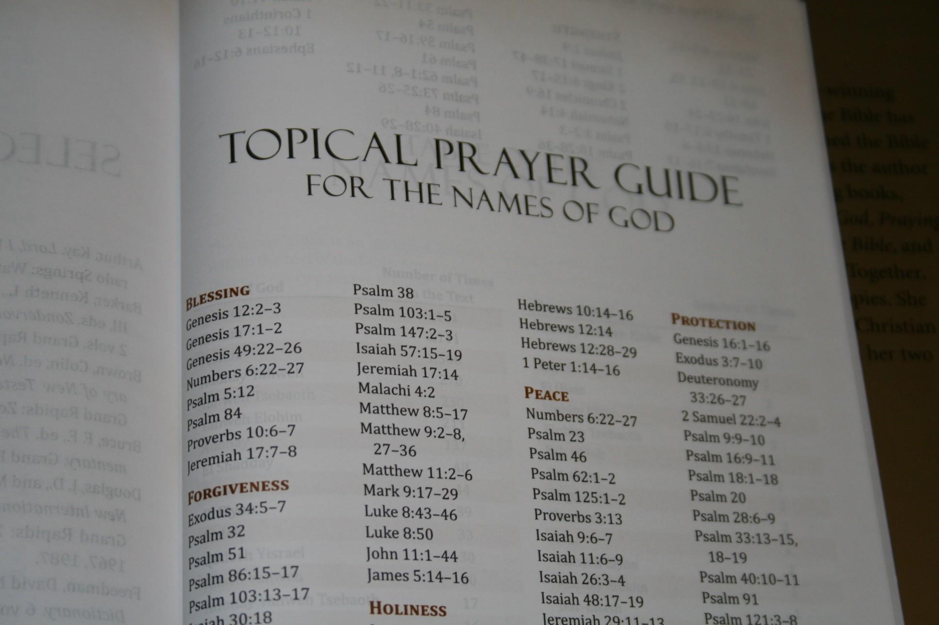 Names of God Bible 032 - Bible Buying Guide