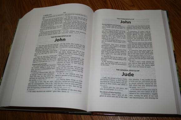 Hendrickson Large Print Wide Margin Bible KJV 010