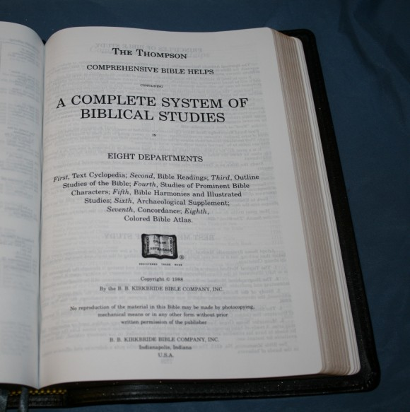 LCBP Thompson Chain Reference Bible 074
