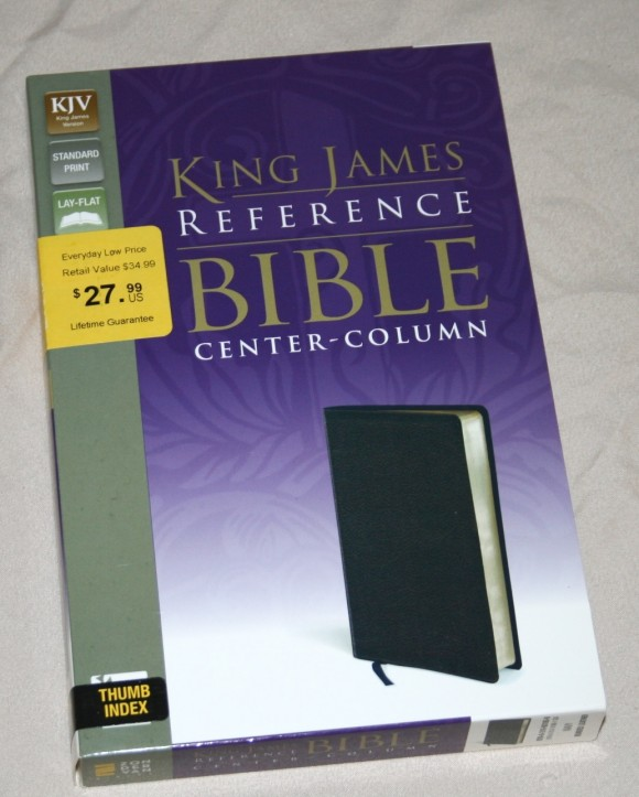 Zondervan King James Reference Bible Center-Column with Thumb In 001