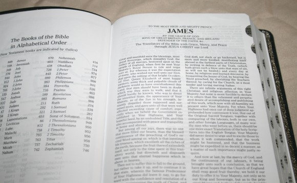 Zondervan King James Reference Bible Center-Column with Thumb In 008