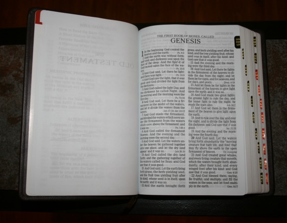Holman Large Print Personal Size Reference Bible KJV in Brown Co 008