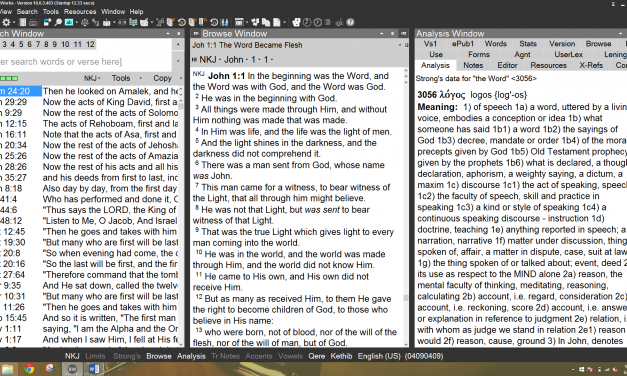 BibleWorks 10 Review Part 1 – New Features and the Search Window