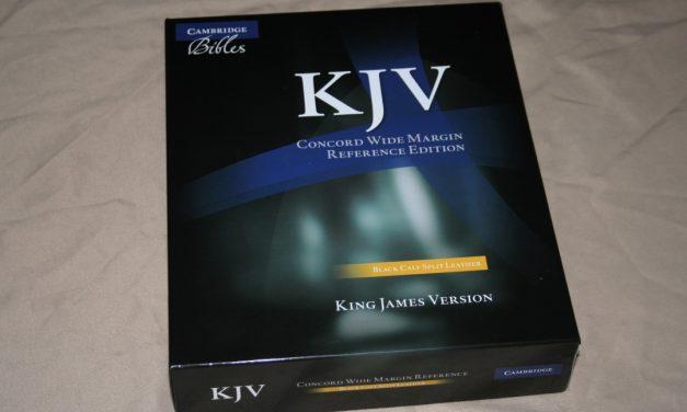 Cambridge Concord Wide Margin KJV in Black Calf Split Leather – Review