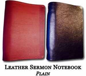 Leather Sermon Notebooks