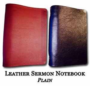 Leather Sermon Notebooks