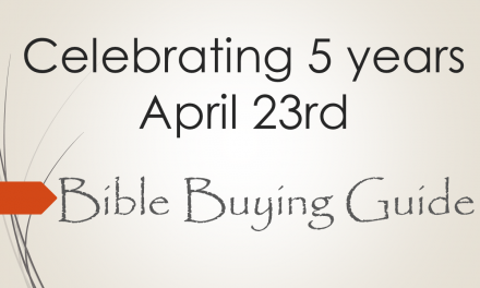 Celebrating Bible Bible Guide's 5th Anniversary