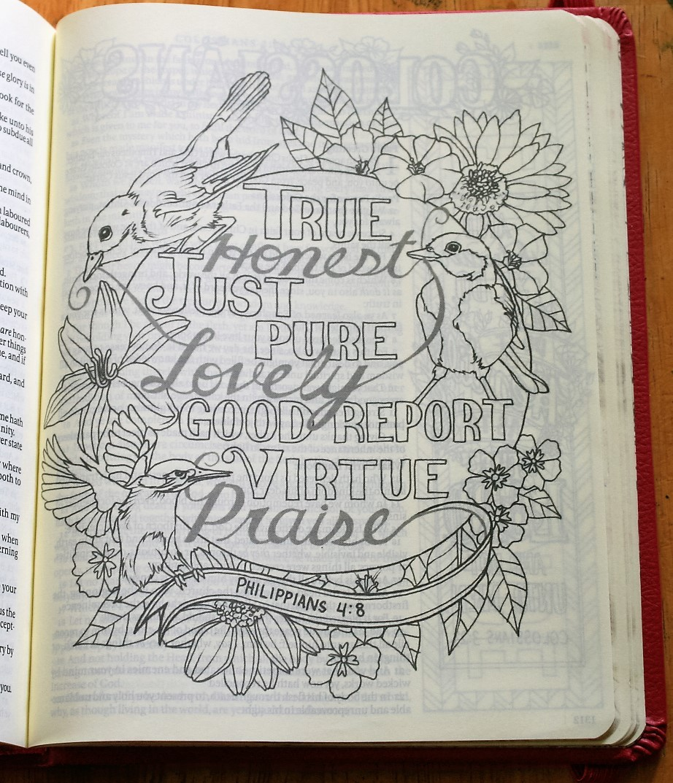 Philippians 4.8 (My Creative Bible)