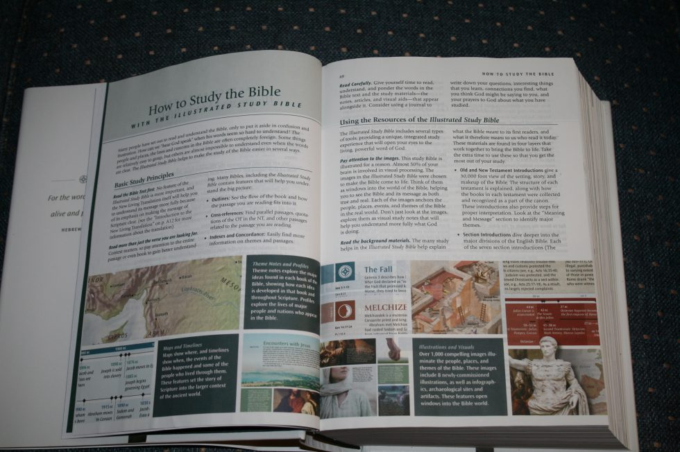 NLT Illustrated Study Bible – Review - Bible Buying Guide
