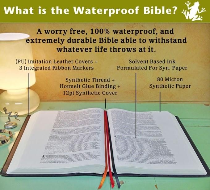 Waterproof Journaling Bible On Kickstarter Bible Buying