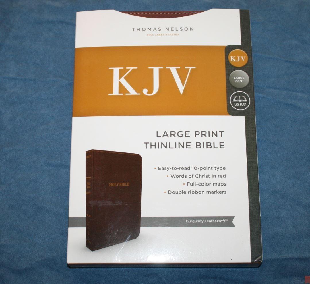 Thomas Nelson Large Print Thinline Bible Kjv Review