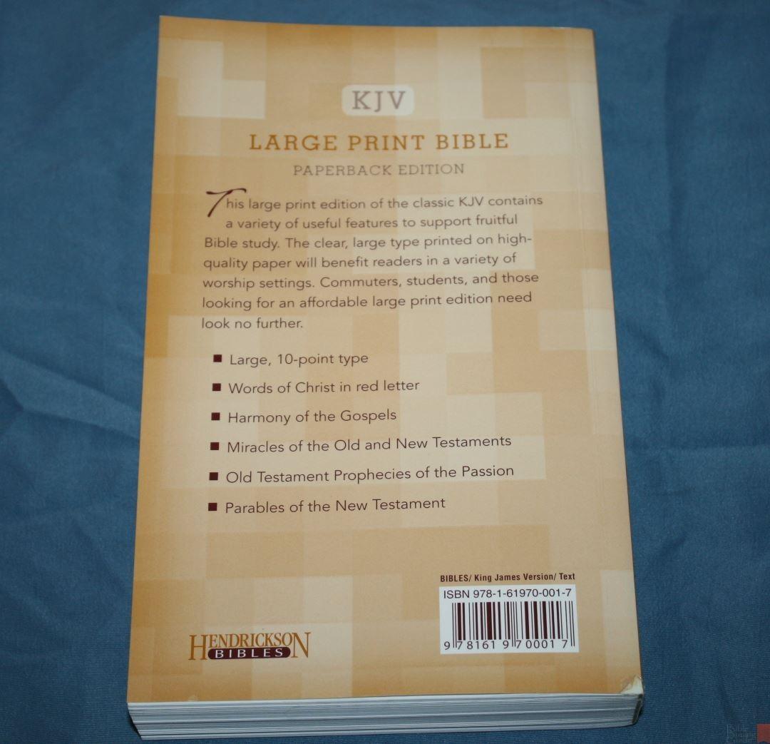 Hendrickson KJV Large Print Bible - Review - Bible Buying Guide