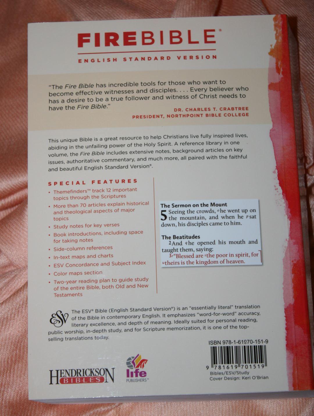 ESV Fire Bible (37) - Bible Buying Guide