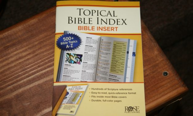 Topical Bible Index Bible Insert from Rose Publishing