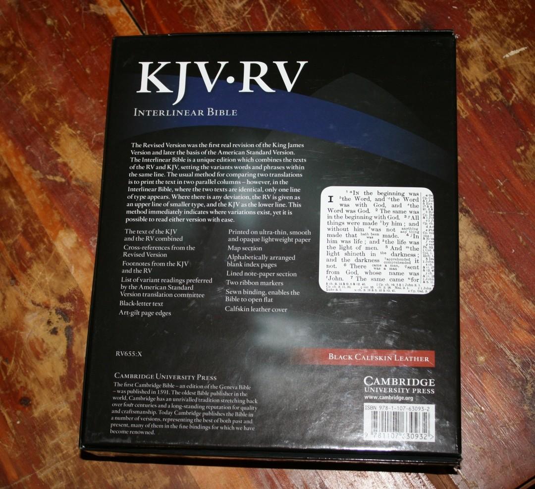 Cambridge KJV-RV Interlinear Bible Review - Bible Buying Guide
