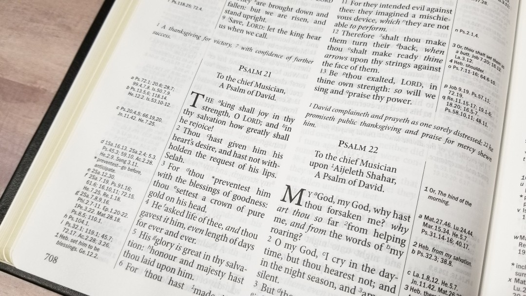 TBS Large Print Westminster Reference Bible KJV - Review