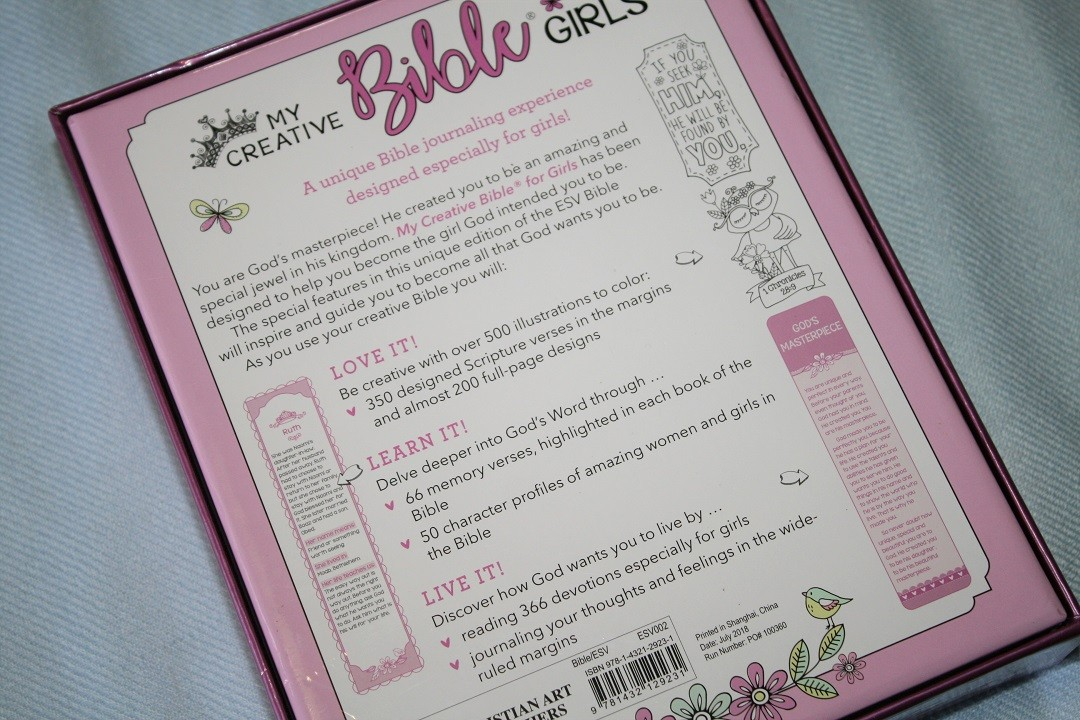 Esv My Creative Bible For Girls Review Bible Buying Guide