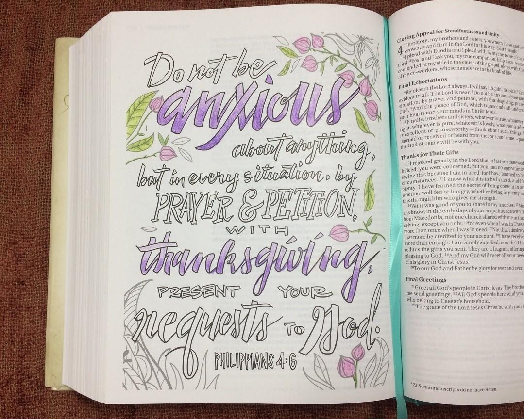 Beautiful Word Coloring Bible Philippians 4 6 Bible Buying