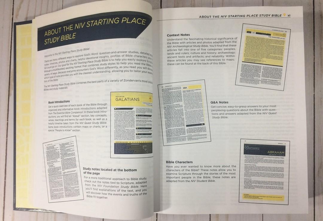 NIV Starting Place Study Bible Review - Bible Buying Guide
