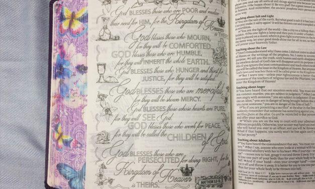 Matthew 5 and Creative Art Journaling