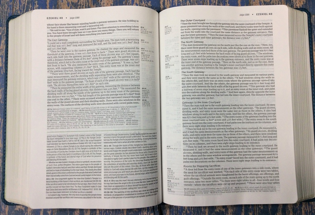 NLT Life Application Study Bible Layout