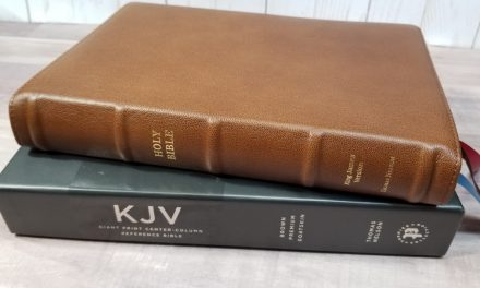 KJV Giant-Print Center-Column Reference Bible Brown (Premier Collection)