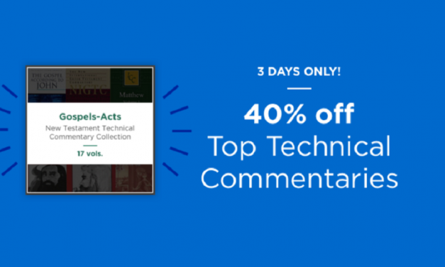 Logos Flash Sale – New Testament Technical Commentary Bundle