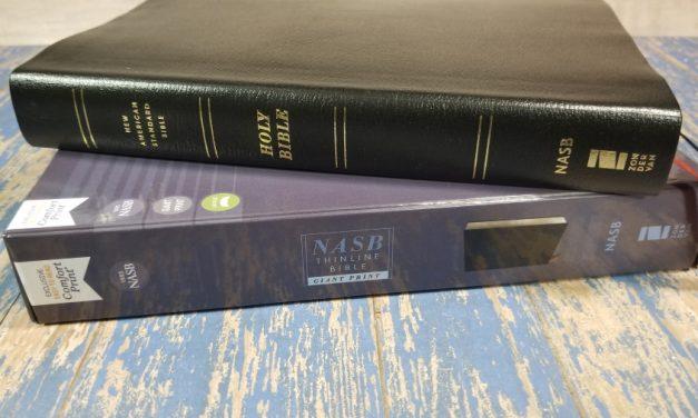 NASB Giant Print Thinline Bible Review