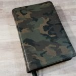 CBP Handsize Text Bible in Camo Print Calfskin
